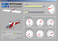 Control over work of the nitinol actuator from a PC